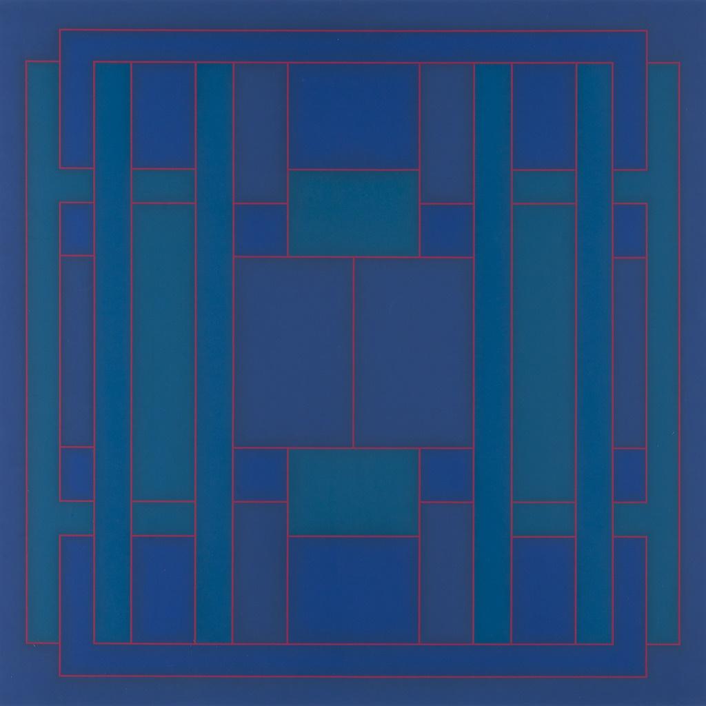 Peter Stroud | Large Blue Cross-Over | Estiamate £600-800