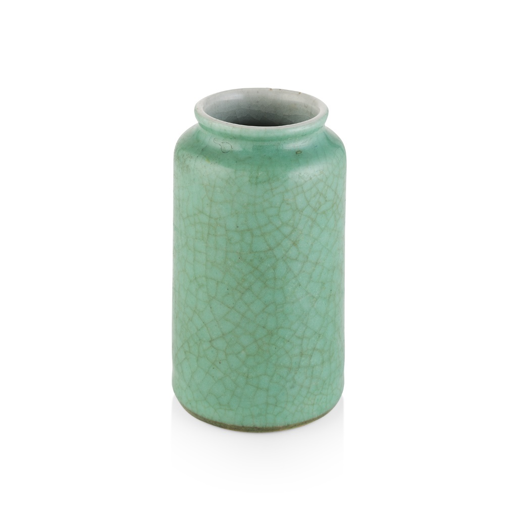 172号 绿釉开片小瓶