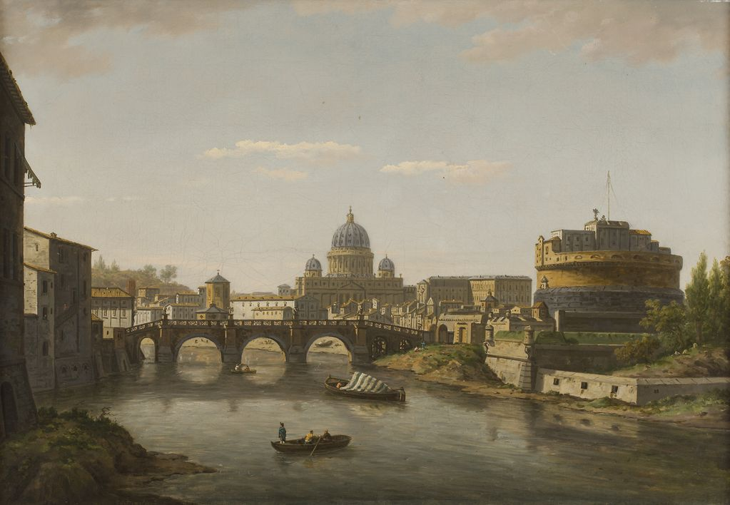 William Marlow | VIEW OF ROME WITH ST PETER'S AND THE CASTEL SANT' ANGELO | Estimate £30,000-50,000