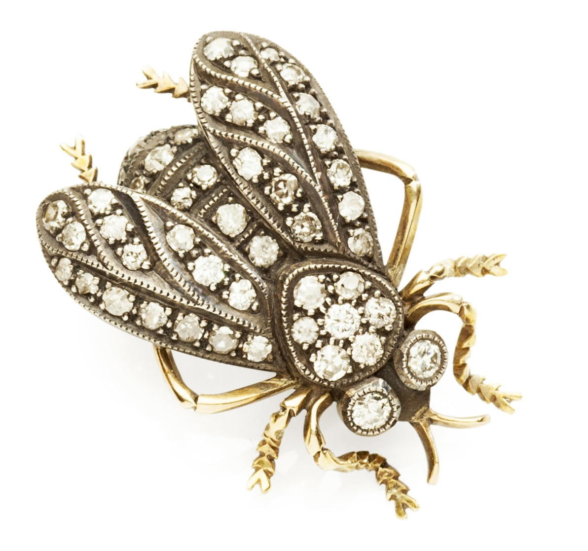 A diamond set novelty brooch