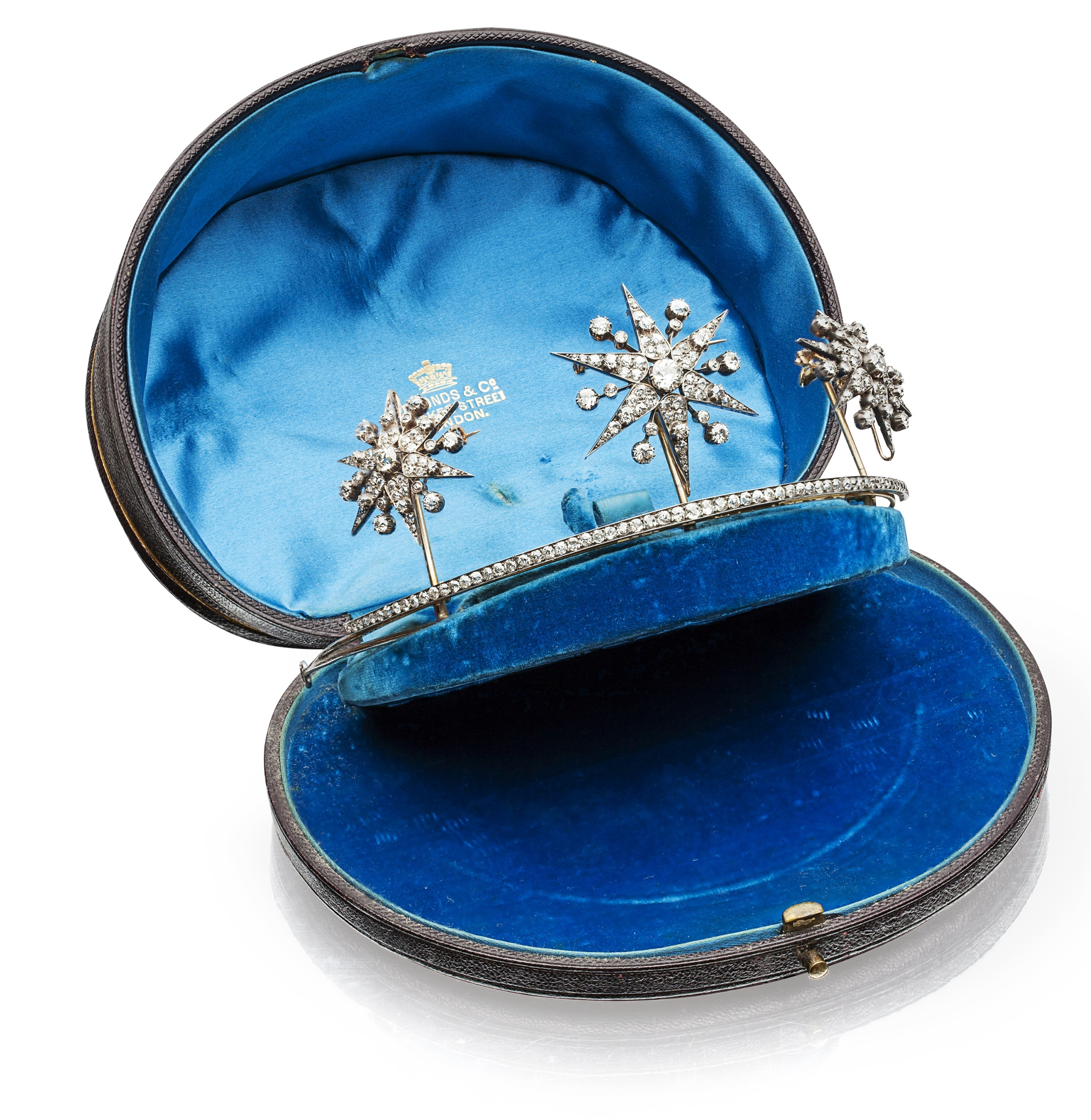 A late 19th century diamond set tiara