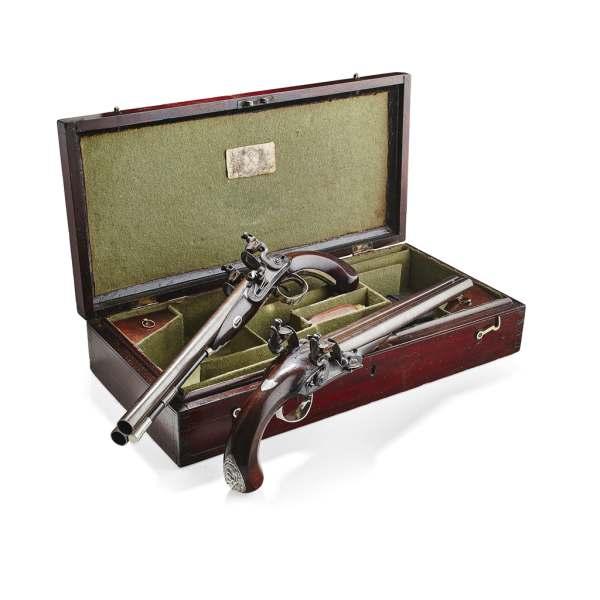 A fine pair of flintlock pistols by Robert Wogdon