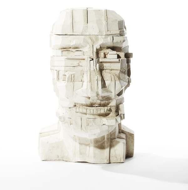 SIR EDUARDO PAOLOZZI K.B.E., R.A., H.R.S.A. (SCOTTISH 1924-2005) HEAD (LARGE)