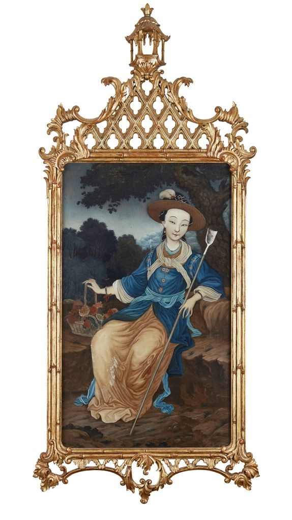 castiglione reverse painting on glass qing dynasty