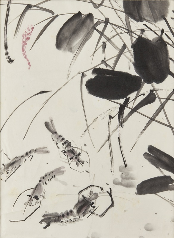 Chen Wen Shi shrimps amongst lotus