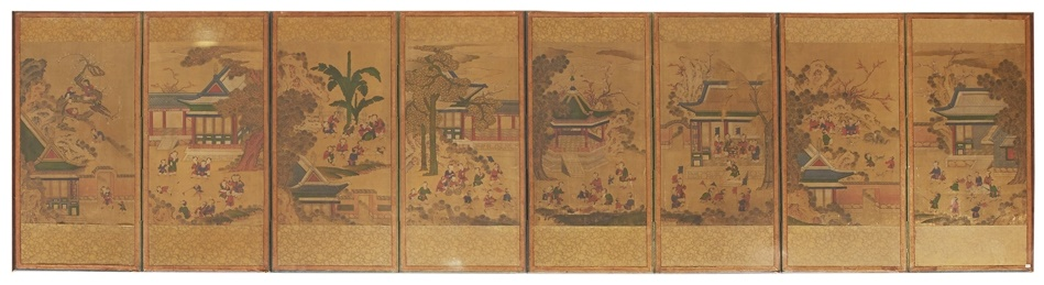 japanese eight-panel folding screen