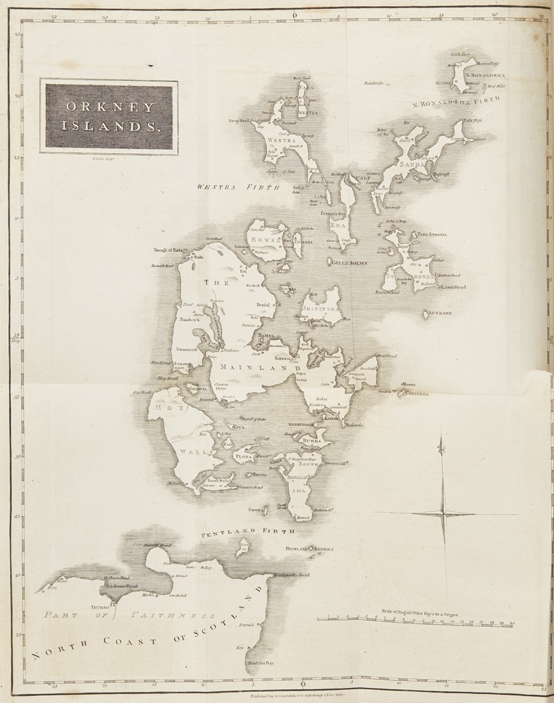 Orkney Map by Barry