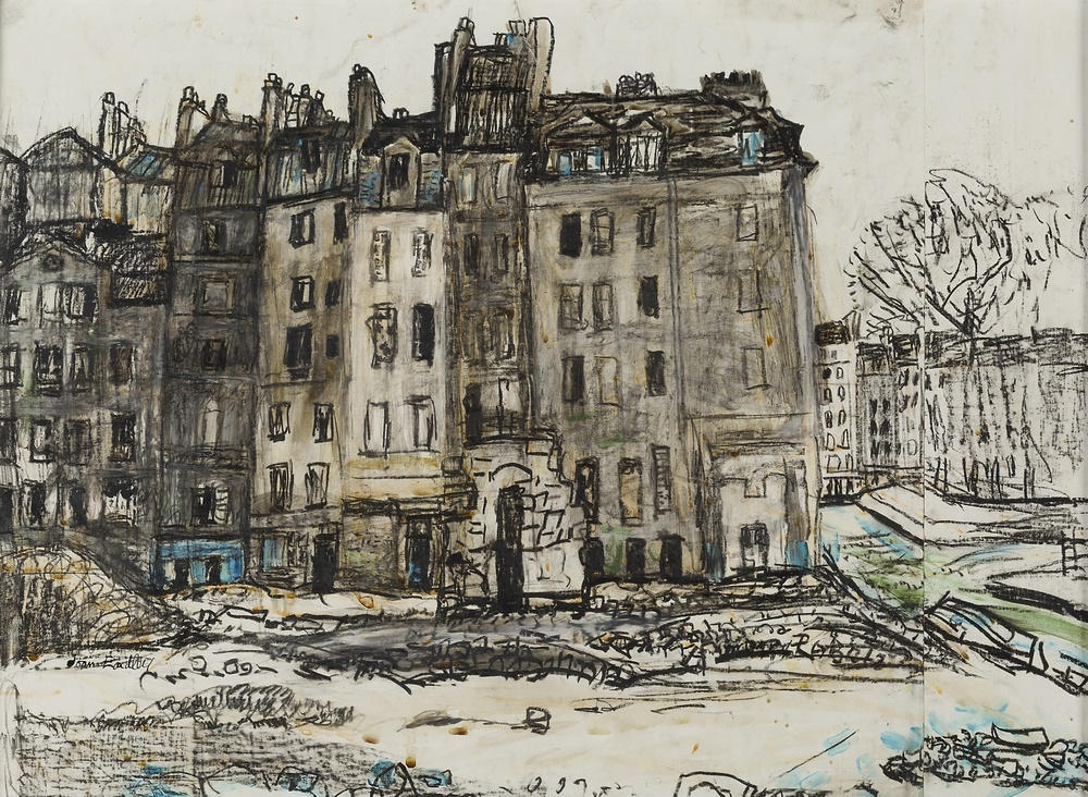 JOAN EARDLEY R.S.A. (BRITISH 1921-1963) HOUSES, PARIS