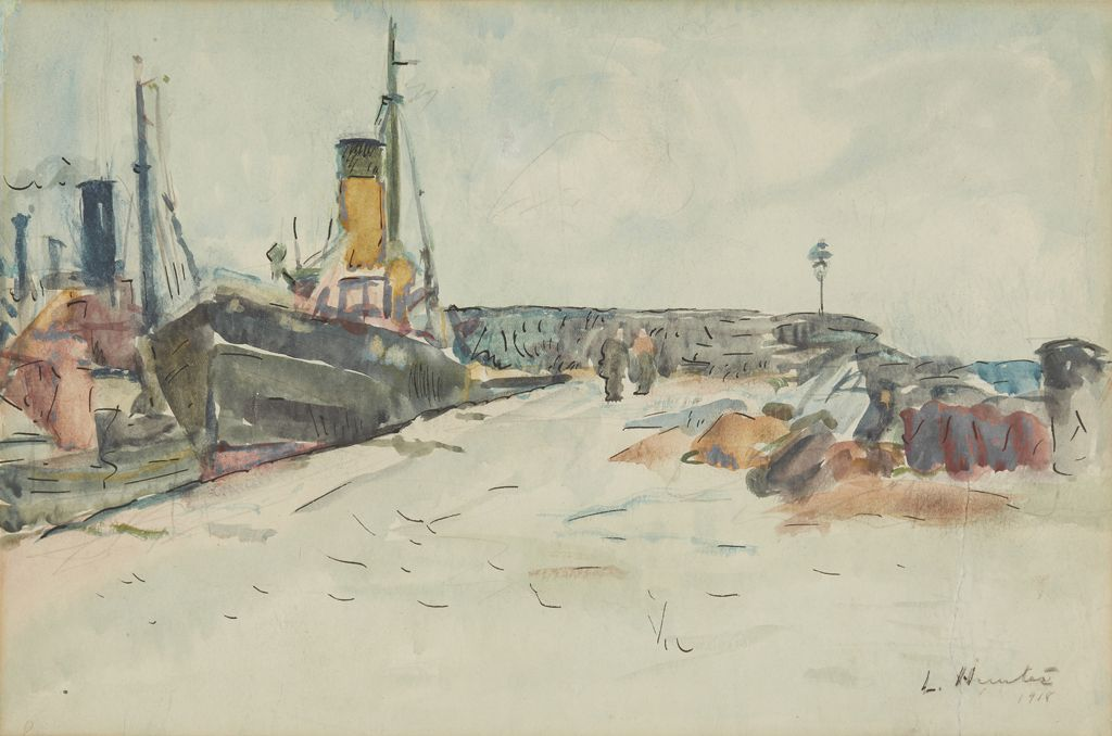 George Leslie Hunter Harbour Scene