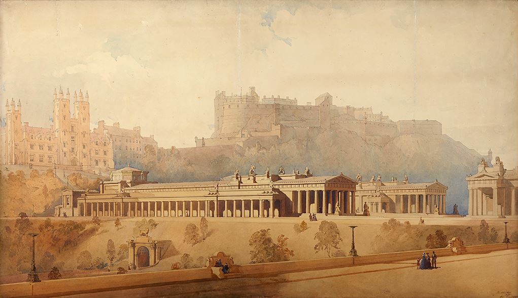 Thomas Hamilton RSA Design for National Gallery and Royal Scottish Academy