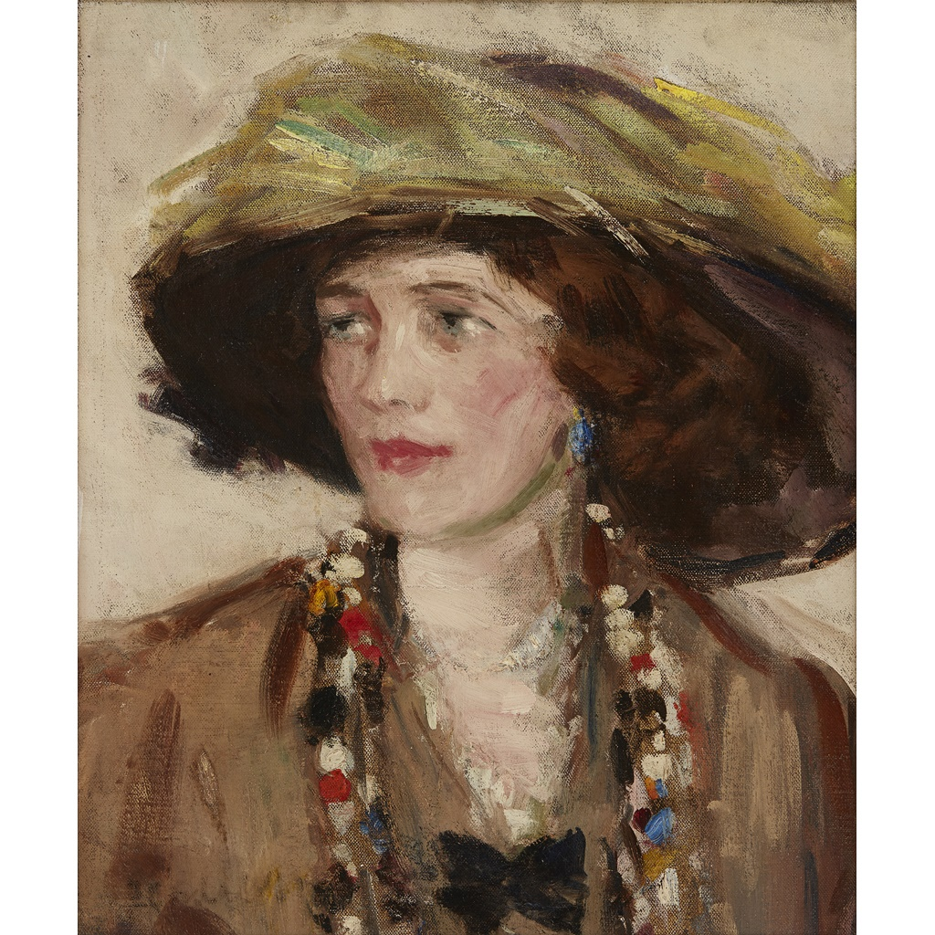 Lot 97 FRANCIS CAMPBELL BOILEAU CADELL R.S.A., R.S.W. (SCOTTISH 1883-1937) PORTRAIT STUDY OF NAN IVORY