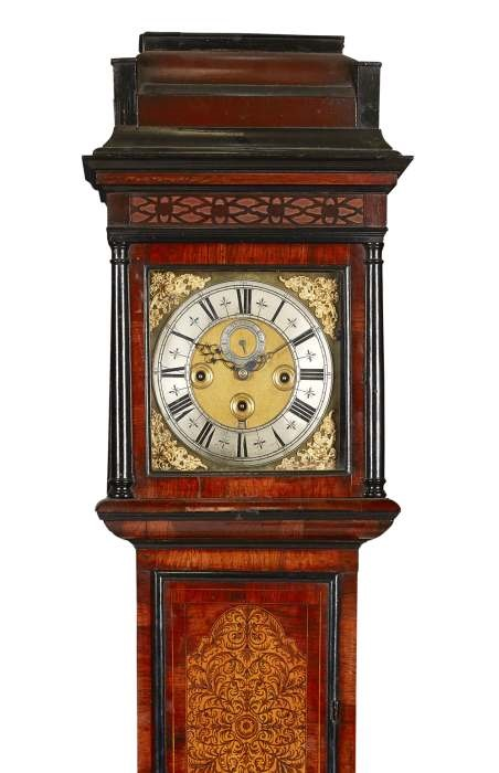 Scottish rosewood marquetry longcase clock