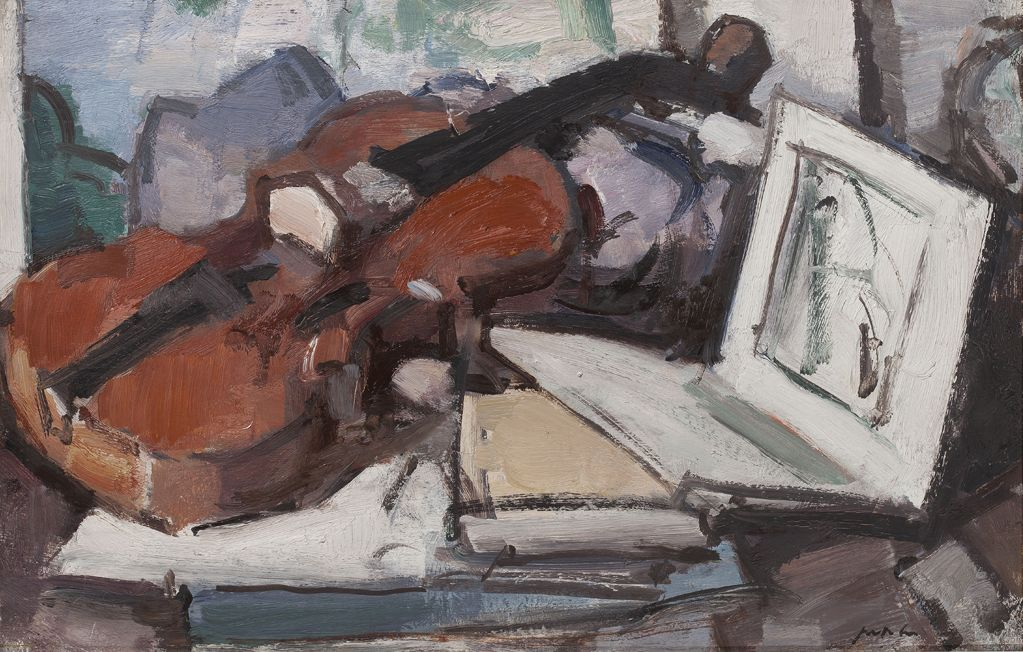 SAMUEL JOHN PEPLOE | STILL LIFE WITH VIOLIN