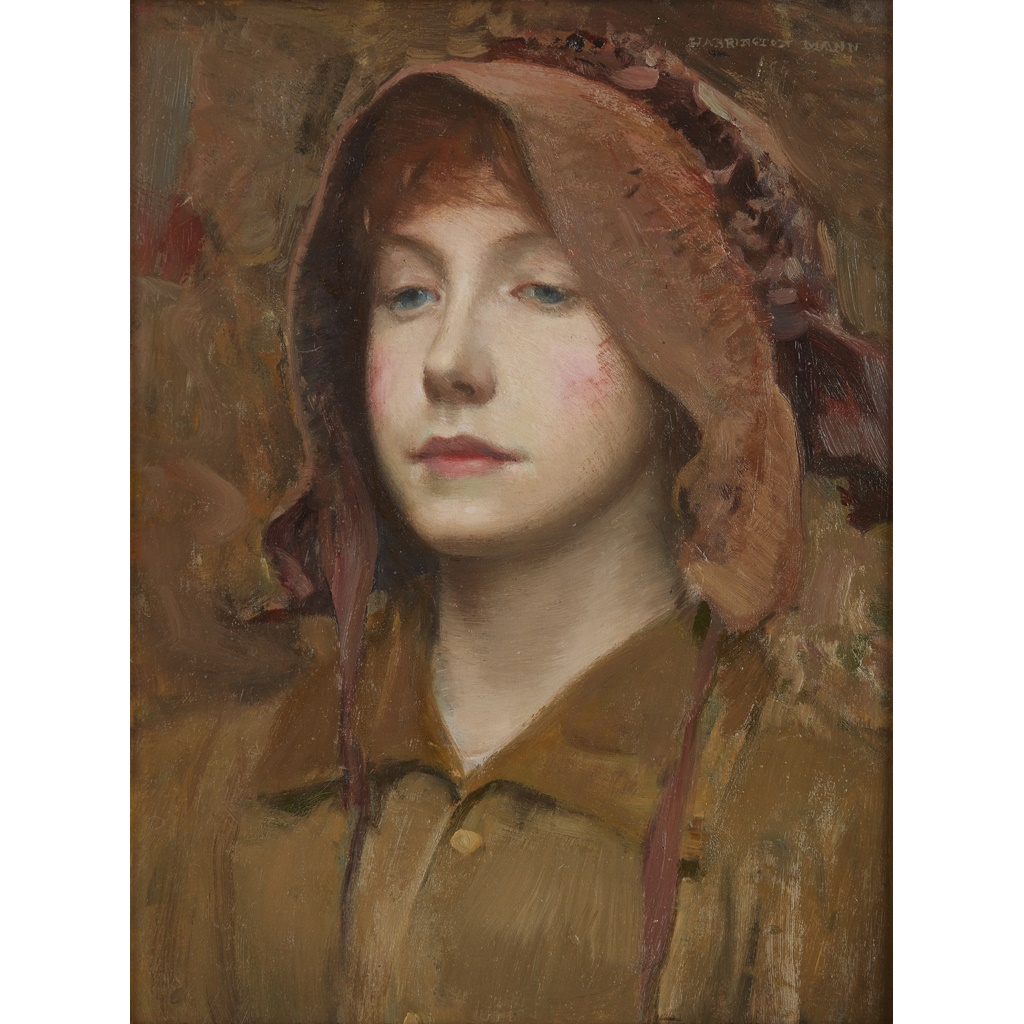 HARRINGTON MANN R.P., R.E. (SCOTTISH 1864-1937) GIRL'S HEAD