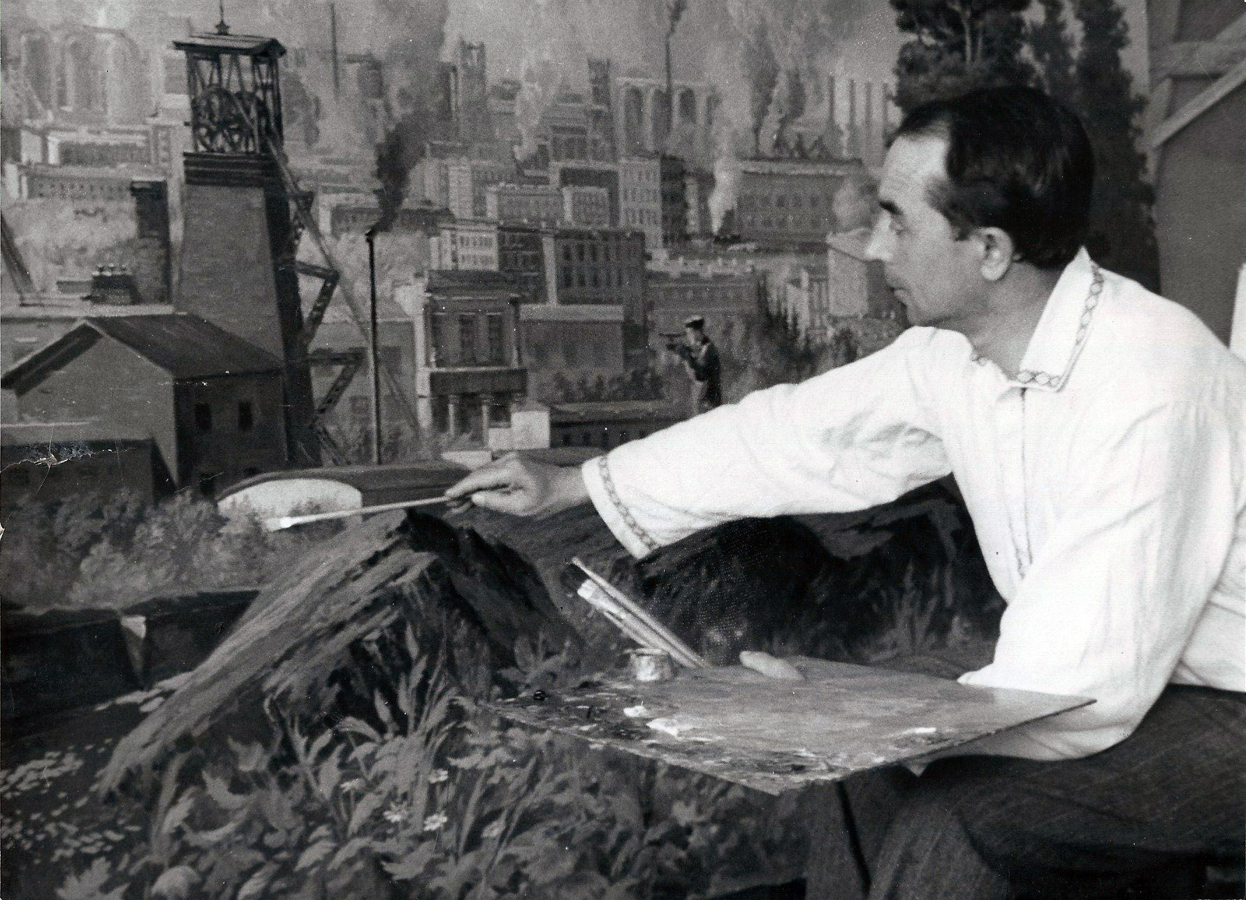 Ivan Titkov at work in the 1950's