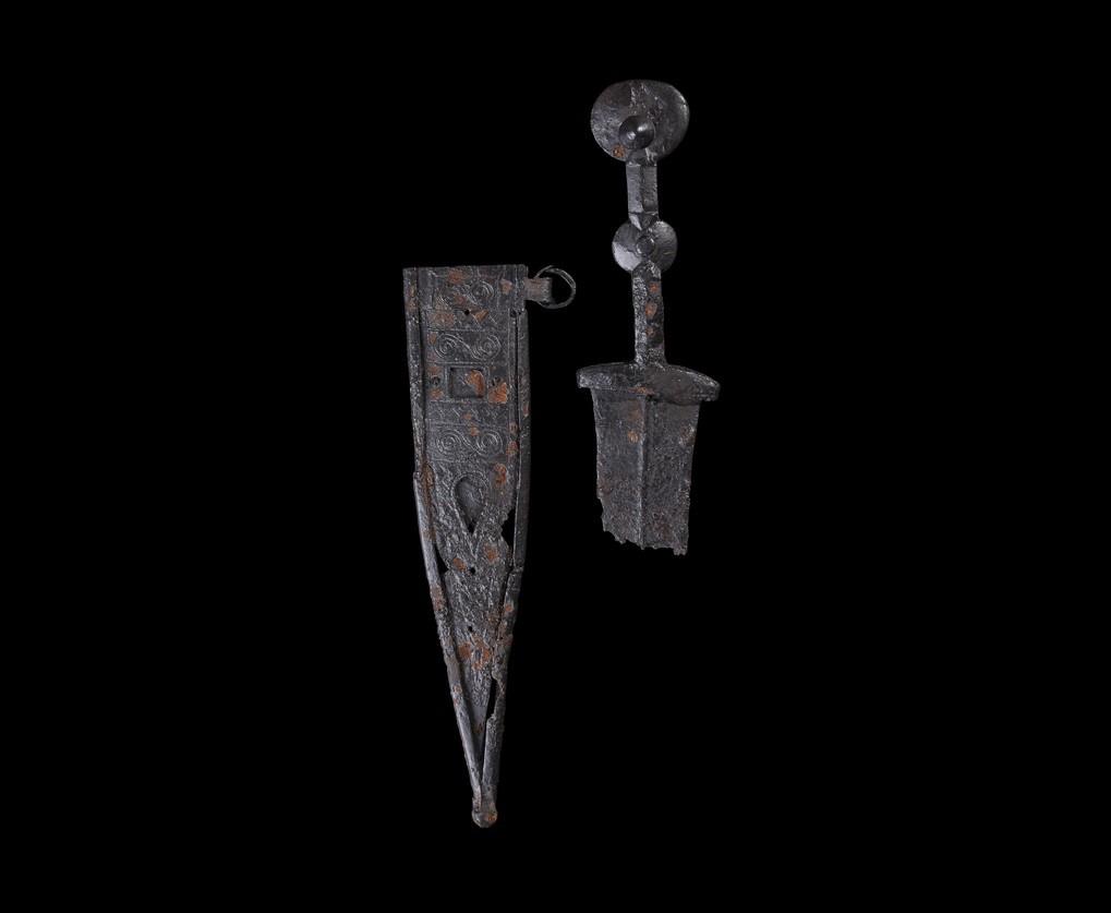 """Celtiberian """"Pugio"""" Dagger & Scabbard Iberia"""
