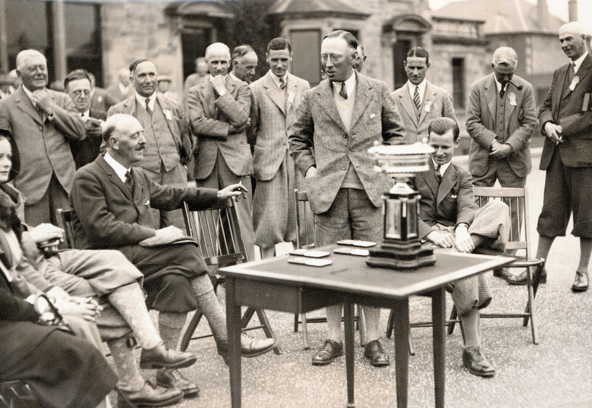 The presentation group for the Amateur Competition 1931