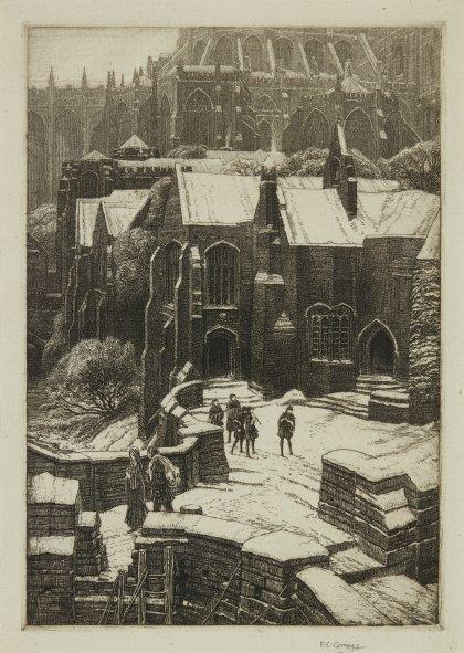 Frederick Landseer Maur Griggs R.A., R.E. (1876-1938)   The Almonry   £2,000-3,000 + fees