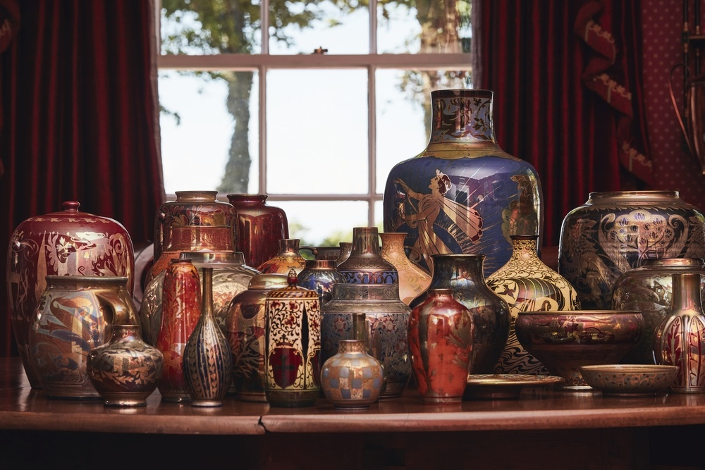 A selection of the Pilkingtons Lancastrian ware