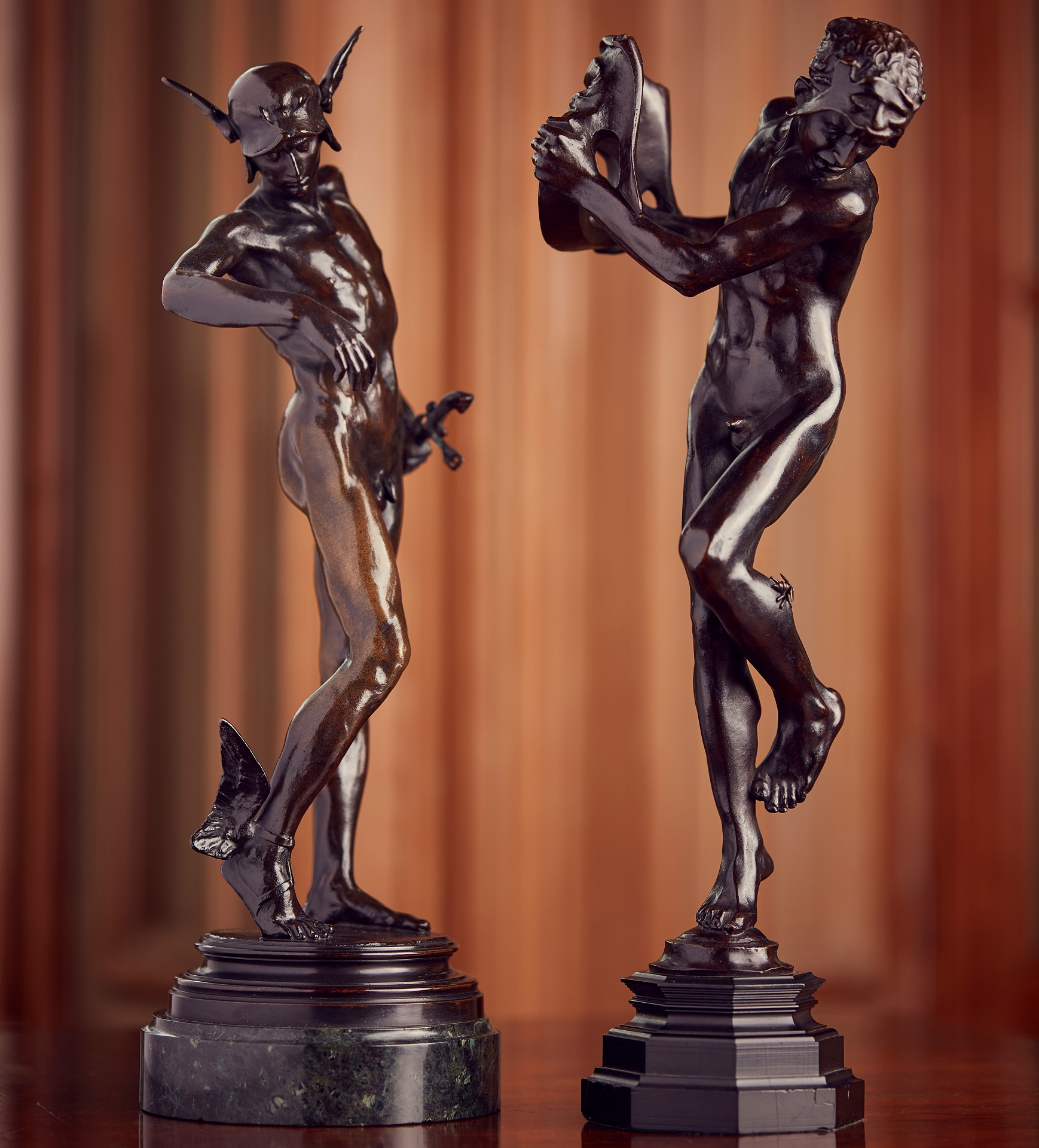 Left: LOT 122 | SIR ALFRED GILBERT R.A. | PERSEUS ARMING
