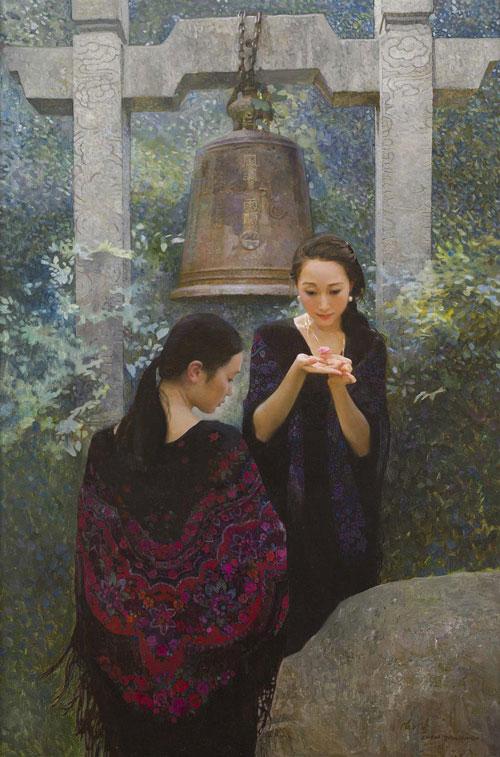 CHEN YANNING (B. 1945) SERENITY oil on canvas