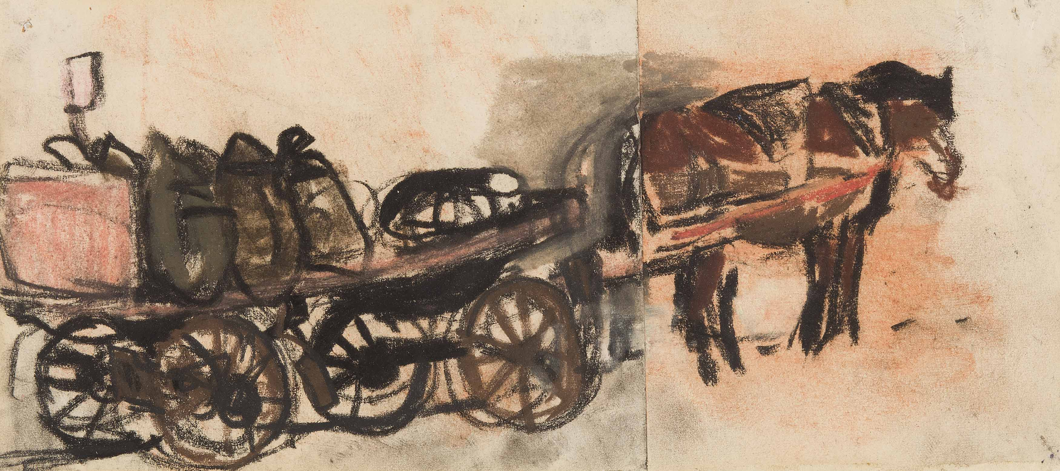 Joan Eardley | The Horse-Drawn Coal Cart