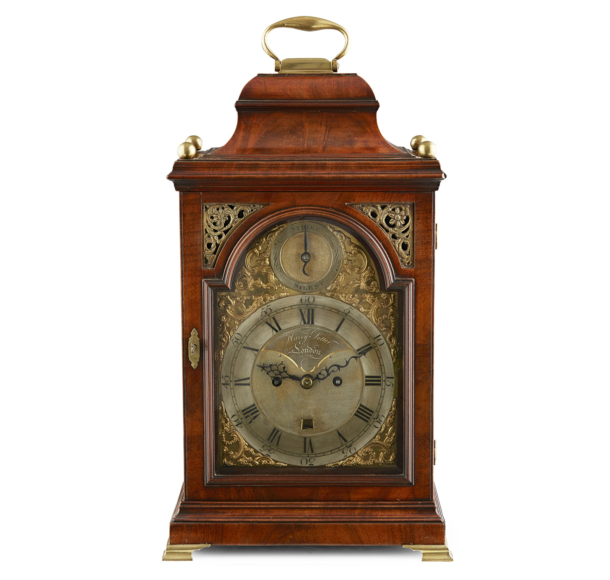 GEORGE III MAHOGANY HOUR REPEATING BRACKET CLOCK, HARRY POTTER, LONDON