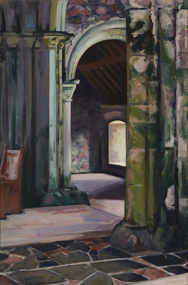FRANCIS CAMPBELL BOILEAU CADELL R.S.A., R.S.W (SCOTTISH 1883-1937) | IONA ABBEY, INTERIOR