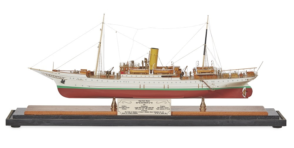 "LOT 198 | A MODEL OF A SINGLE SCREW STEAMER | SS ""ST SUNNIVA II"""