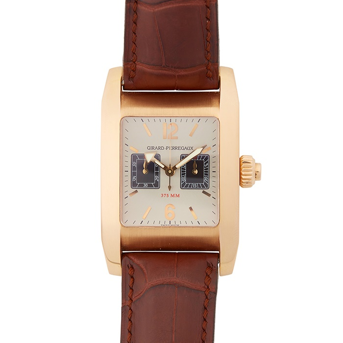 A GENTLEMAN'S 18CT ROSE GOLD WRISTWATCH, GIRARD-PERREGAUX