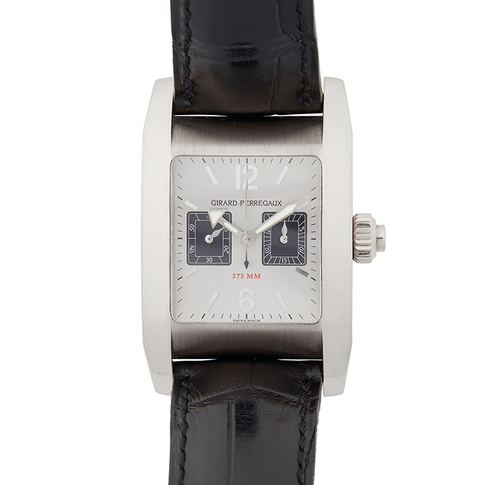 A GENTLEMAN'S 18CT WHITE GOLD WRISTWATCH, GIRARD-PERREGAUX