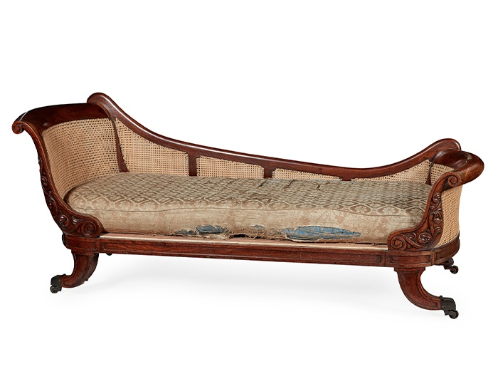 REGENCY MAHOGANY BERGERE DAY BED