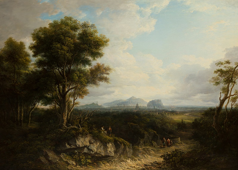 ALEXANDER NASMYTH (SCOTTISH 1758-1840) | EDINBURGH FROM THE NORTH-WEST Signed and dated 1822, oil on canvas | 82cm x 115cm (32.25in x 45.25in) Sold for £32,500 incl premium