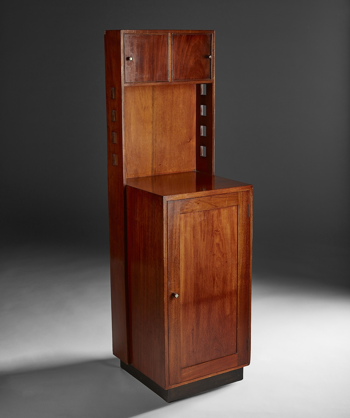 CHARLES RENNIE MACKINTOSH (1868-1928) INLAID MAHOGANY BEDSIDE CABINET, 1916