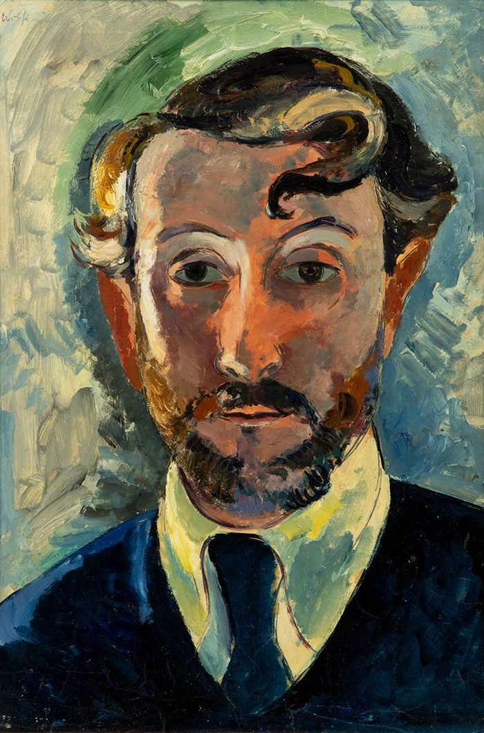 EDWARD WOLFE R.A. (SOUTH AFRICAN/BRITISH 1897-1982) SELF PORTRAIT, 1940S