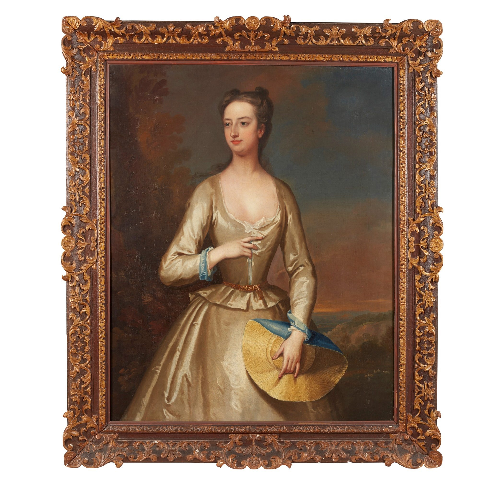 LOT 76 | CHARLES JERVAS | PORTRAIT OF A LADY IN WHITE