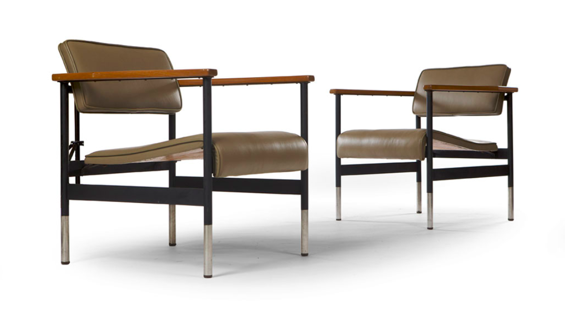 ROBIN DAY FOR HILLE AND CO.LTD PAIR OF 'BR' LOUNGE CHAIRS, DESIGNED 1962