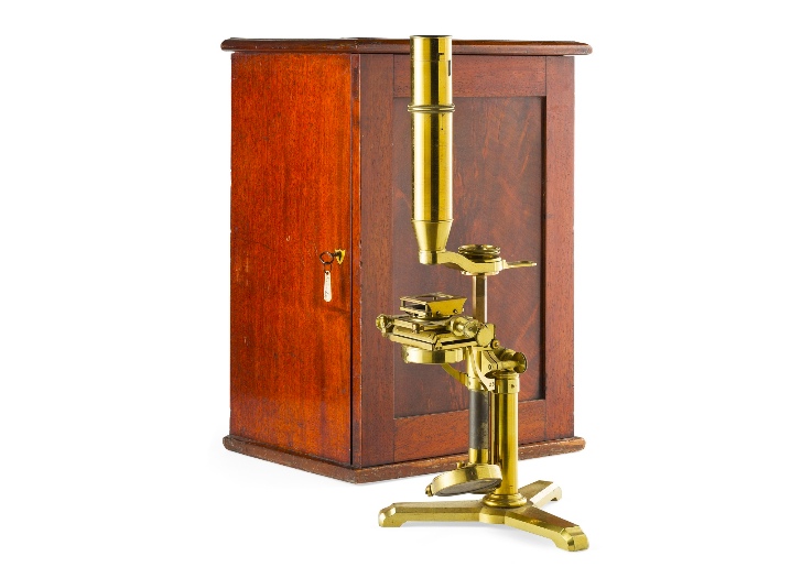 PRITCHARD' MODEL BRASS MICROSCOPE BY H. POWELL, LONDON