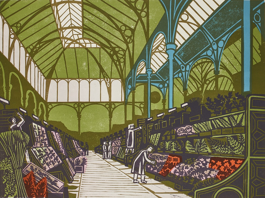 EDWARD BAWDEN C.B.E., R.A. (BRITISH 1903-1989) | COVENT GARDEN FLOWER MARKET