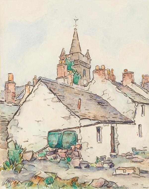 ERNEST ARCHIBALD TAYLOR (SCOTTISH 1874-1951) | THE OLD TOLLBOOTH KIRKCUDBRIGHT