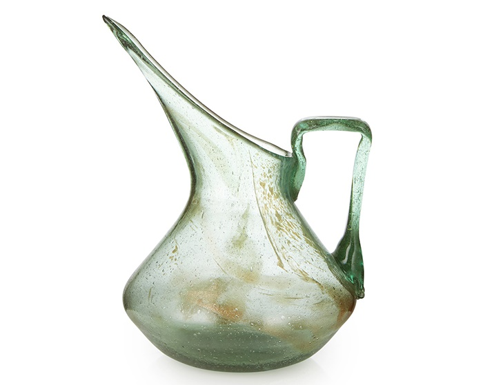 CHRISTOPHER DRESSER (1834-1904) FOR JAMES COUPER & SONS, GLASGOW 'CLUTHA' GLASS PITCHER, CIRCA 1890