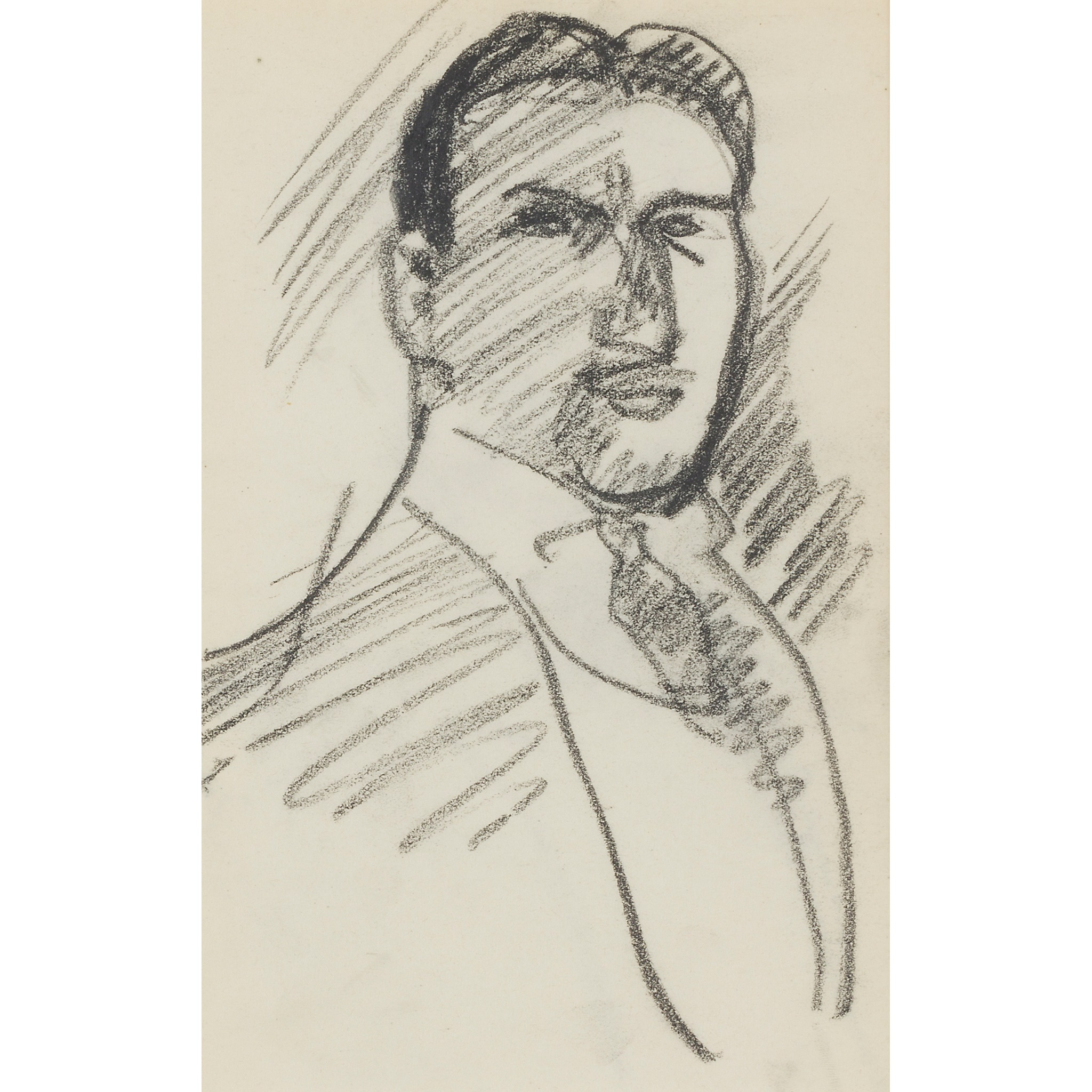 JOHN DUNCAN FERGUSSON R.B.A. (SCOTTISH 1874-1961) SELF PORTRAIT