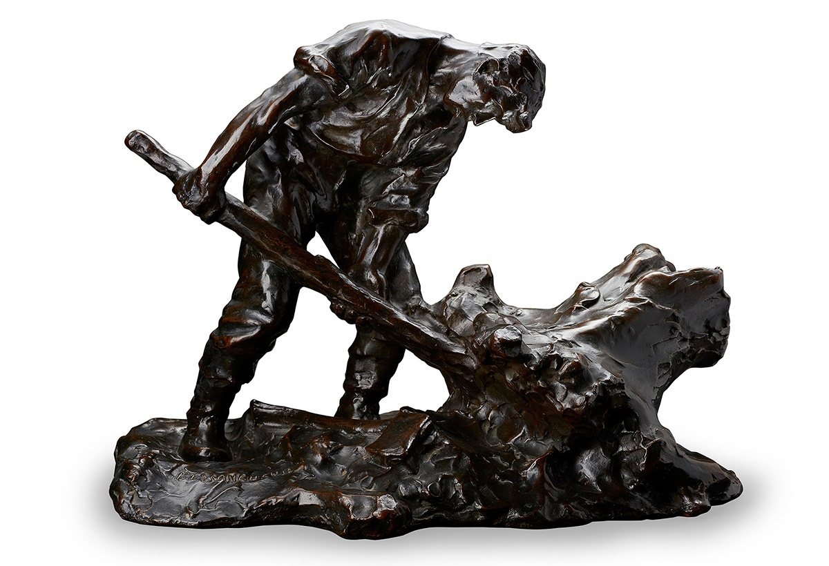 MARC AURÈLE DE FOY SUZOR-CÔTÉ (1869–1937) L'ESSOUCHEUR