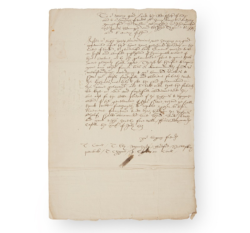 [JANE, LADY GREY] - QUEEN JANE'S COUNCIL TWO DOCUMENTS, INCLUDING THE PROCLAMATION OF QUEEN MARY I, MARY TUDOR