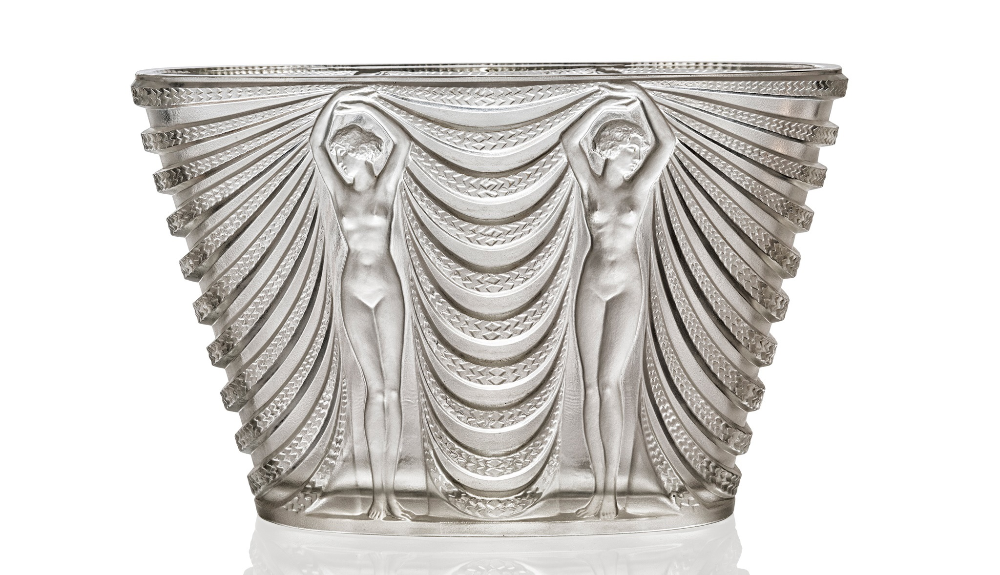 RENÉ LALIQUE (FRENCH 1860-1945) CEYLAN VASE, NO. 905