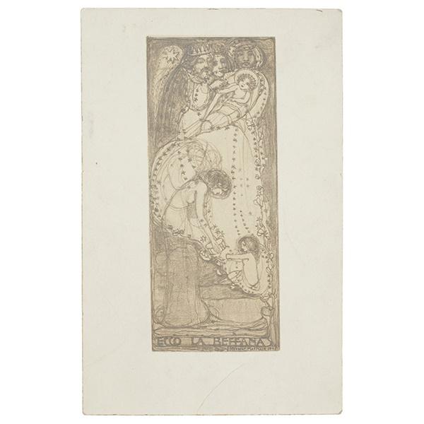 LOT 395 | § JAMES HERBERT MACNAIR (1868-1955) | RARE POSTCARD WITH HAND-WRITTEN INSCRIPTION, 1905