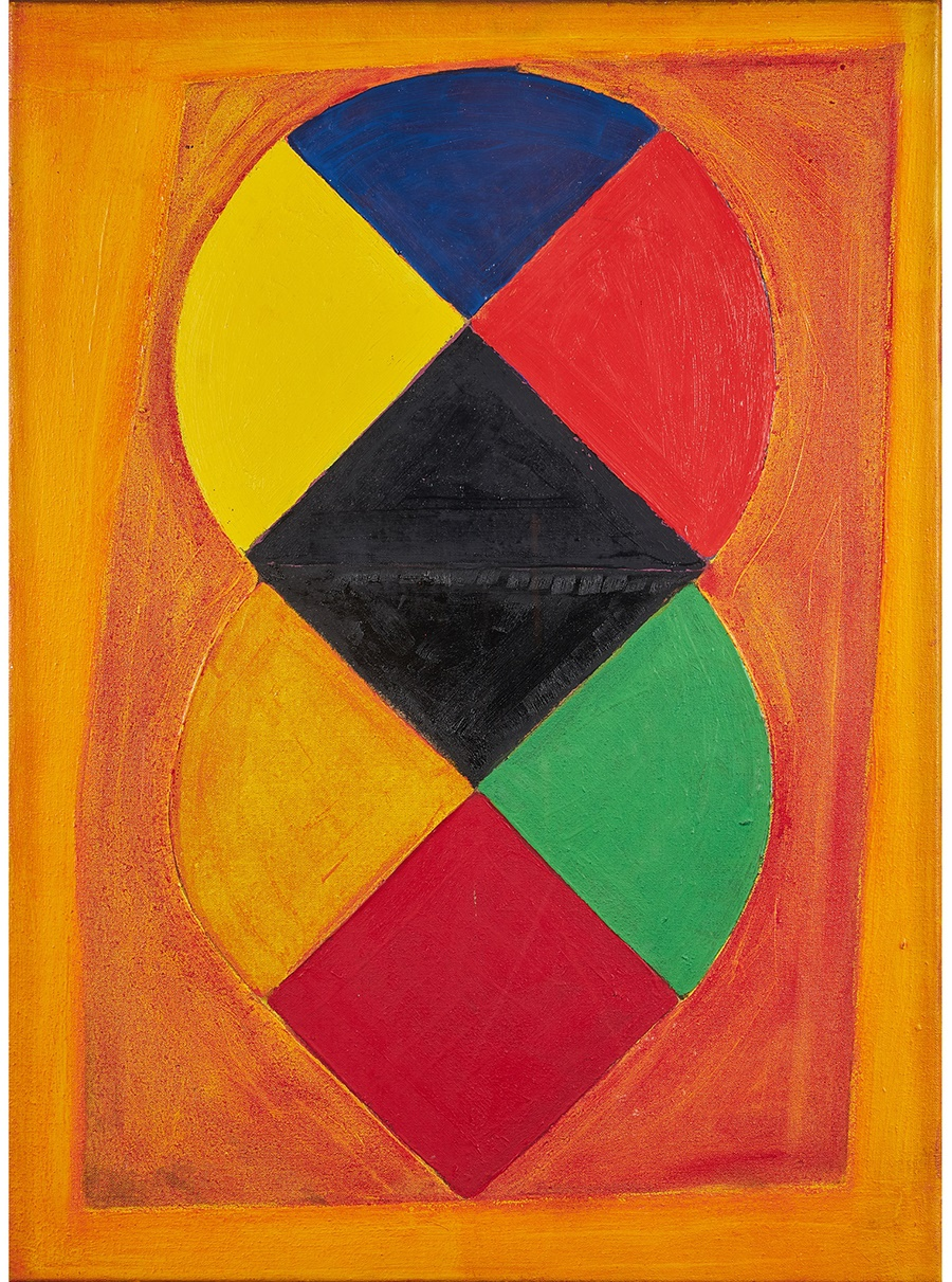 SIR TERRY FROST R.A. (BRITISH 1915-2003) ORANGE AND YELLOW, 1976/77