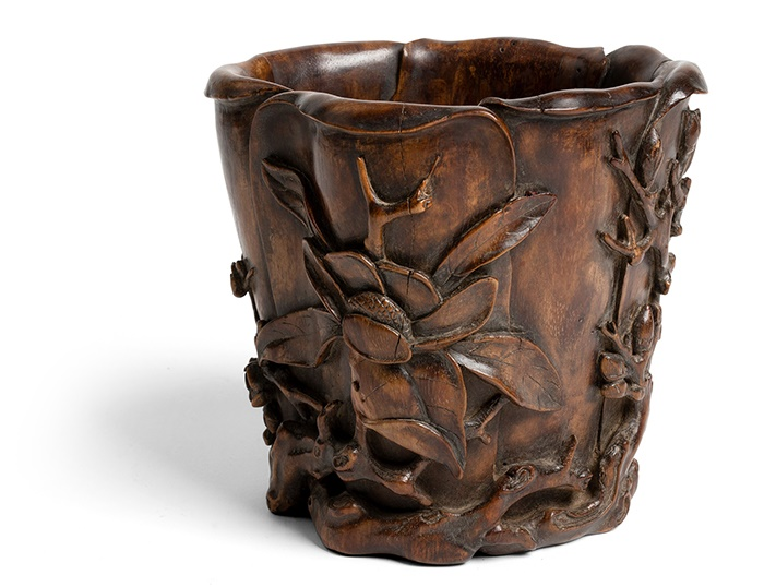 HUANGHUALI 'MAGNOLIA' BRUSH POT | QING DYNASTY, 18TH CENTURY
