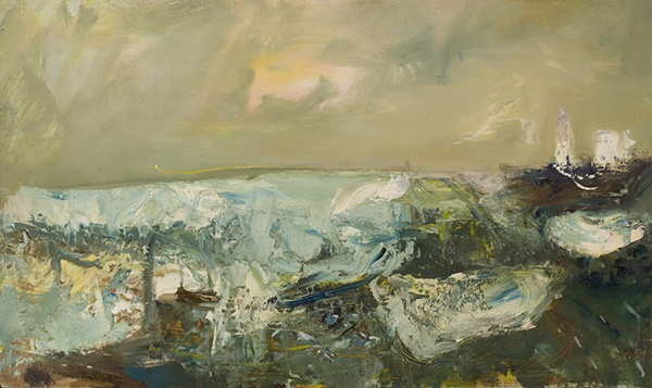 JOAN EARDLEY R.S.A. (SCOTTISH 1921-1963) THE TOD LIGHTHOUSE, CATTERLINE