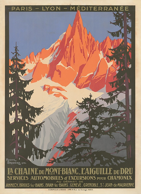 ROGER BRODERS (1883-1953) | LA CHAINE DU MONT-BLANC | Sold for £6,250 + fees